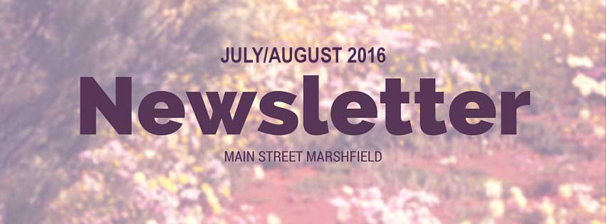 Main Street Marshfield Newsletter July/August 2016